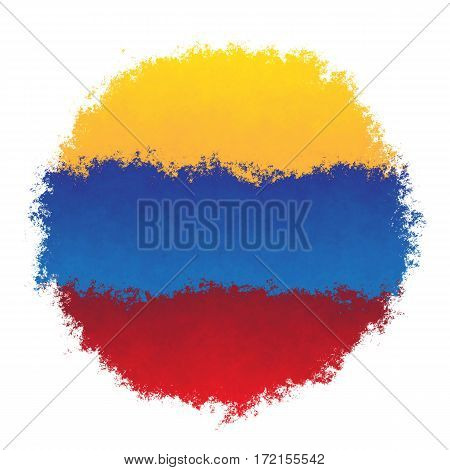Color spray stylized flag of Venezuela on white background