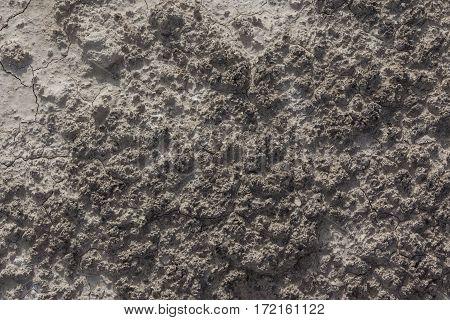 White arid cracked rough lumpy dry textured desert soil