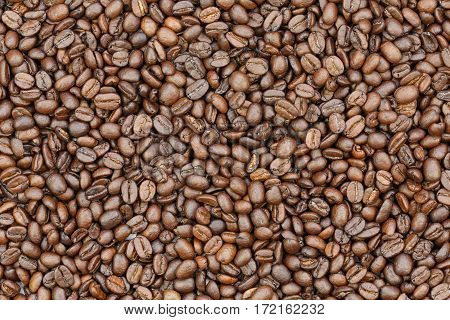 roasted coffee beans and coffee beans background