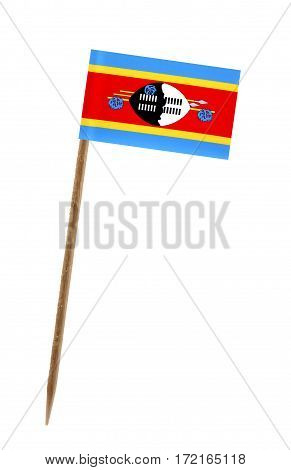 Tooth pick wit a small paper flag of Swaziland