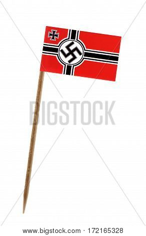 Tooth pick wit a small paper War ensign of Germany