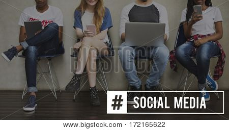 Social Media Technology Connection Tag