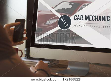 Car mechanic connection online internet