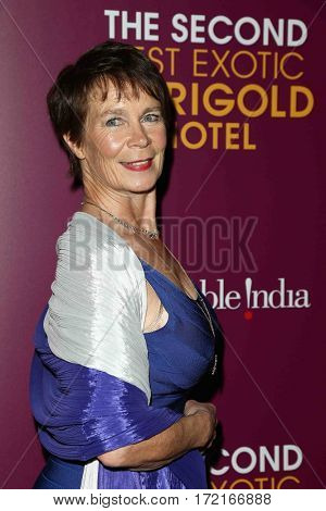 NEW YORK-MAR 3: Actress Celia Imrie attends the premiere of