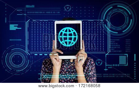Global Network Communication Worldwide Technology Graphic