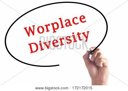 Hand Writing Worplace Diversity On Transparent Board