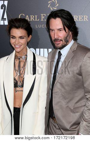 LOS ANGELES - JAN 30:  Ruby Rose, Keanu Reeves at the