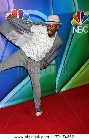 LOS ANGELES - JAN 18:  Malcolm Barrett at the NBC/Universal TCA Winter 2017 at Langham Hotel on January 18, 2017 in Pasadena, CA