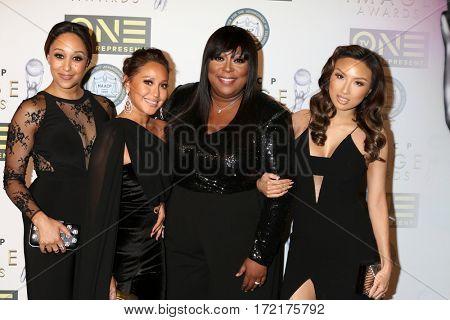 LOS ANGELES - FEB 10: Tamara Mowry-Housley, Adrienne Bailon Houghton, Loni Love, Jeannie Mai - Non-Televisied 48th NAACP Image Awards at Pasadena Conference Center on February 10, 2017 in Pasadena, CA