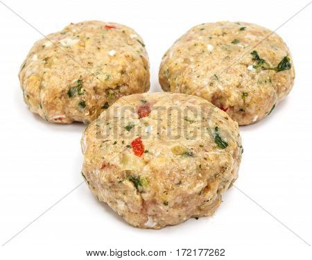 Raw Spicy Meatballs With Herbs And Vegetables