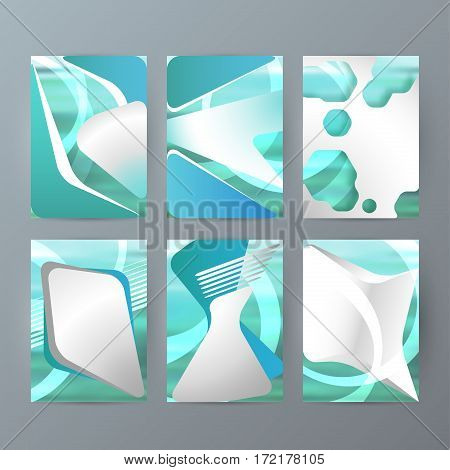 Set Of A4 Brochure Design Templates With Geometric Abstract Modern Backgrounds05