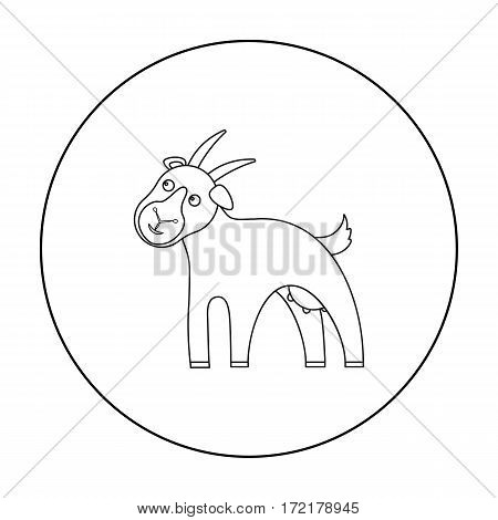 Goat icon outline. Single bio, eco, organic product icon from the big milk outline.