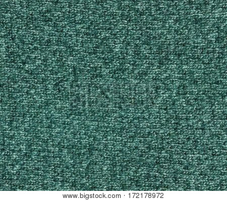 Cyan Color Knitting Cloth Texture.