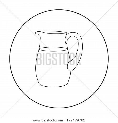 Milk jug icon outline. Single bio, eco, organic product icon from the big milk outline.