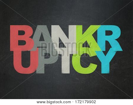 Law concept: Painted multicolor text Bankruptcy on School board background, School Board poster
