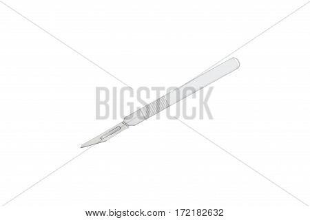 Medical scalpel isolated on white background isolated on white background