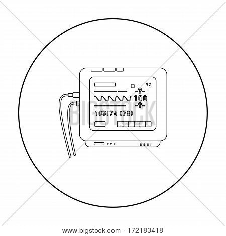Ecg machine icon outline. Single medicine icon from the big medical, healthcare outline.