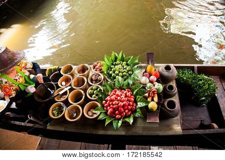 floating market near Bangkok, Thailand