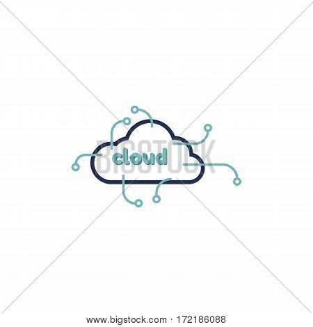 Cloud logo design vector template. Vector illustration