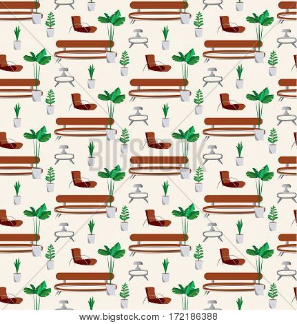Vintage vector seamless pattern background with home.vector illustration.