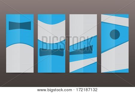 Set Vertical Banners Blue Background04