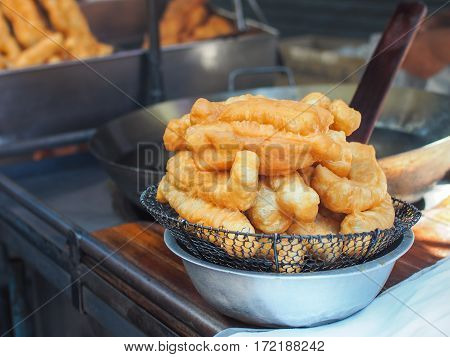 Youtiao Fry (Patongko), Fried dough sticks. Chinese Food