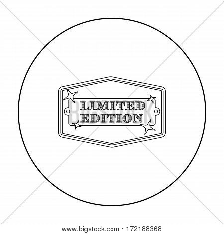 Limited edition icon in outline style isolated on white background. Label symbol vector illustration.