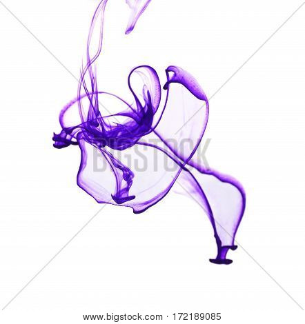 Abstract Background With Color Cloud Of Ink In Water