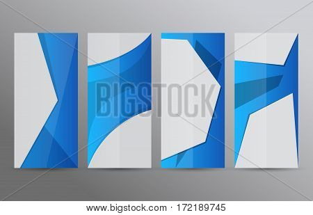 Set Vertical Banners Blue Background07