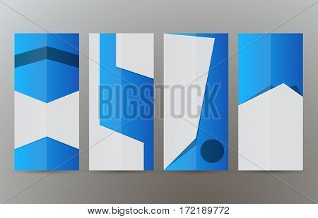 Set Vertical Banners Blue Background08