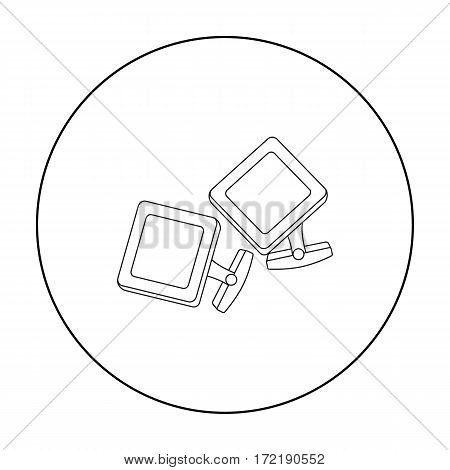 Cufflinks icon in outline style isolated on white background. Jewelry and accessories symbol vector illustration.