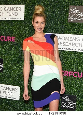 LOS ANGELES - FEB 16:  Jessica Hart arrives for the An Unforgettable Evening on February 16, 2017 in Beverly Hills, CA