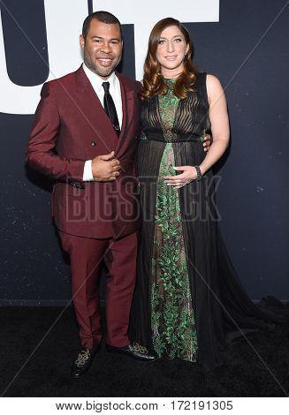 LOS ANGELES - FEB 10:  Jordan Peele and Chelsea Peretti arrives for the