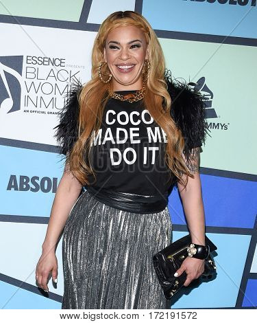 LOS ANGELES - FEB 09:  Faith Evans arrives for the ESSENCE 8th Annual Black Women In Music on February 9, 2017 in Hollywood, CA