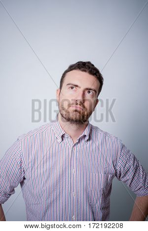 Man With Doubtful And Skeptic Face