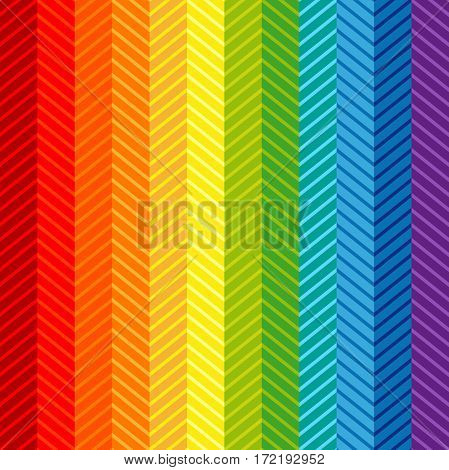 Retro textile design collection. Rainbow colors palette.