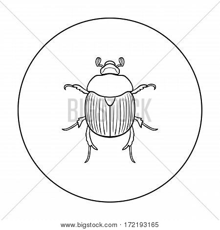 Dor-beetle icon in outline design isolated on white background. Insects symbol stock vector illustration.