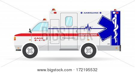 Vector ambulance vehicle illustration paramedic car emergency auto icon