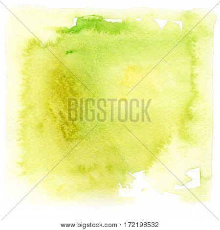 bright green stain watercolor splash paint. grunge illustration