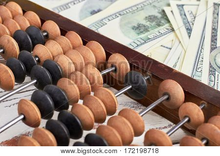 Abacus and national currency. Formula of financial success.