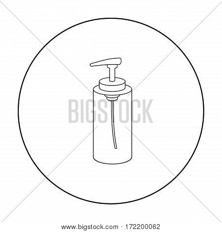 Lotion icon in outline style isolated on white background. Hairdressery symbol vector illustration.