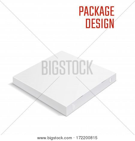 Vector Illustration of pizza craft Box for Design, Website, Background, Banner. Delivery Folding package Template. Fold pack Mockup for your brand on it