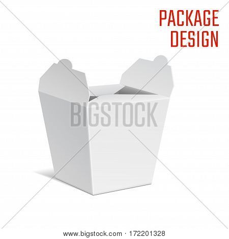 Vector Illustration of Clear Craft Box for Design, Website, Background, Banner. Retail Folding Noodle package Template. Fold pack Blank for your brand on it