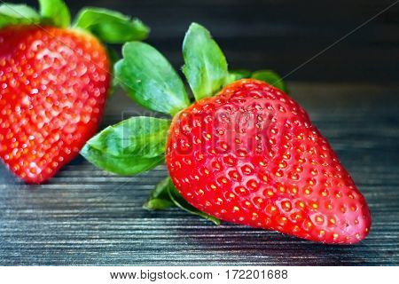 Sweet and fresh strawberries ready to eat.