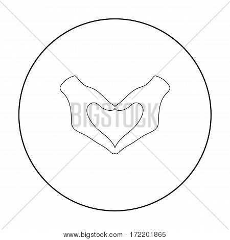 Hands icon outline. Single gay icon from the big minority, homosexual outline stock vector