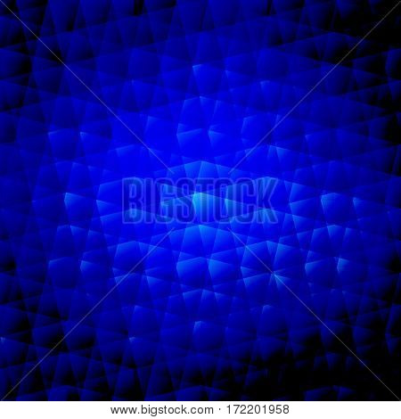 Vector abstract saturated blue background. Broken backdrop