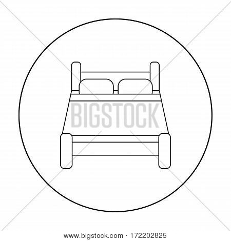 Bed icon of vector illustration for web and mobile design