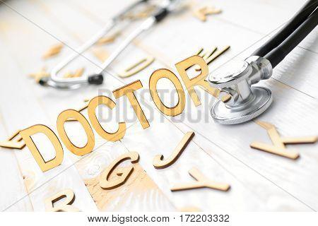 Wooden Word Doctor