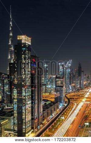 Sheik Zayed Road in Dubai the UAE
