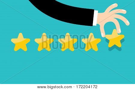 Customer reviews rating classification concept Vector Illustration